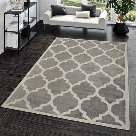 teppiche eingangsbereich kurzflor teppich modern marokkanisches design wohnzimmer