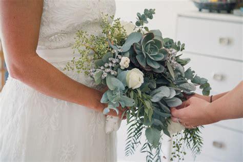 Wedding Bouquet Eucalyptus by Eucalyptus And Succulent Wedding Bouquet Image Polka Dot