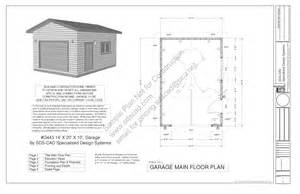 Garage Blueprints by G443 14 X 20 X 10 Garage Plans Sample Page 1 Sds Plans