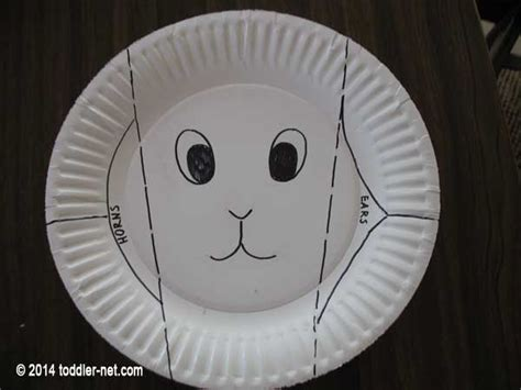 Goat Paper Plate Craft - paper plate goat craft for