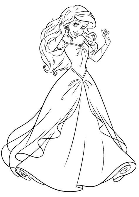 barbie ariel coloring pages print coloring image princess girls and coloring books