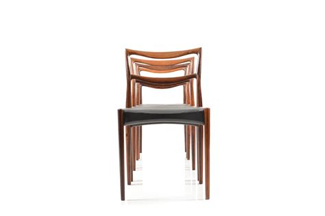 set of four dining room chairs rosewood and leather at set of four danish rosewood dinner chairs room of art