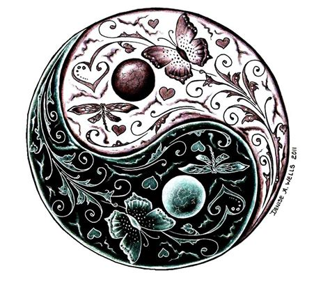 cool yin yang tattoo yin yang 2011 by deniseawells on deviantart