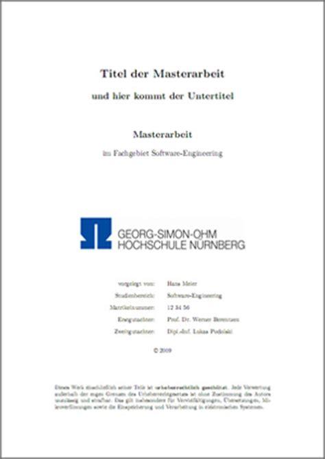 Word Vorlage Deckblatt Bachelorarbeit Vorlage F 252 R Meine Masterarbeit An Der Ohm Hochschule N 252 Rnberg Stefan Macke