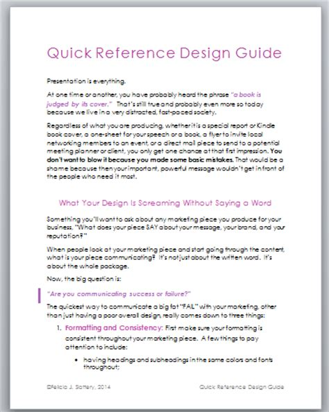 quick reference guide templates for word speaker one sheet templates felicia slattery chicago