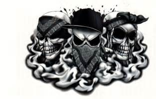 the gallery for gt drawings of gangster skulls