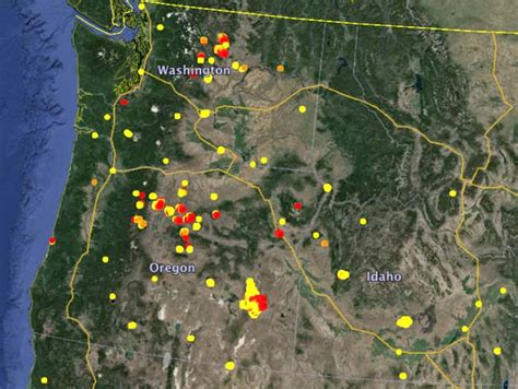 map of oregon forest fires chiwaukum creek wildfire today