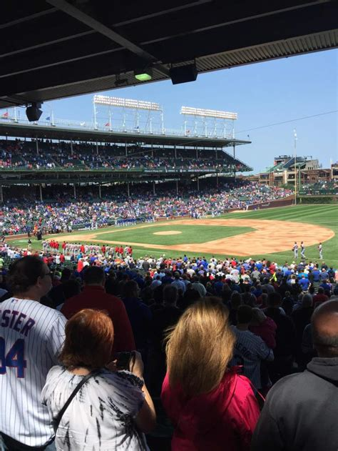 wrigley field section  row  seat  home