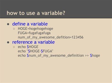 echovar writing linux shell script 1