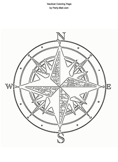 c is for compass coloring pages