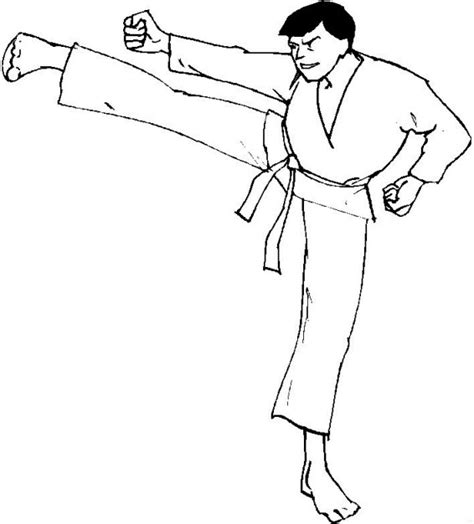 kids n fun com coloring page karate karate