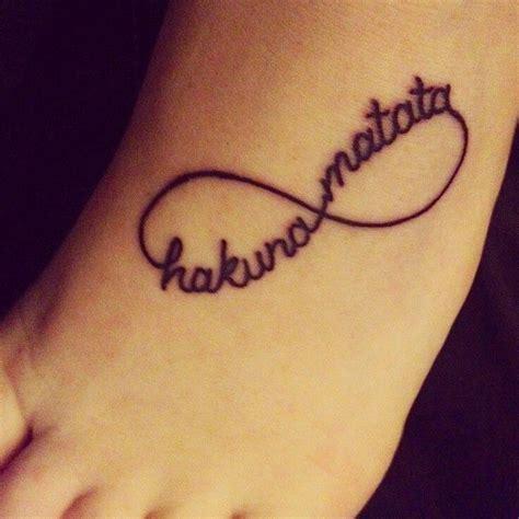 infinity tattoo hakuna matata hakuna matata infinity tattoos pinterest