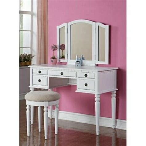 3 pc white finish wood make up bedroom from amb furniture and best 25 tri fold mirror ideas on pinterest vintage
