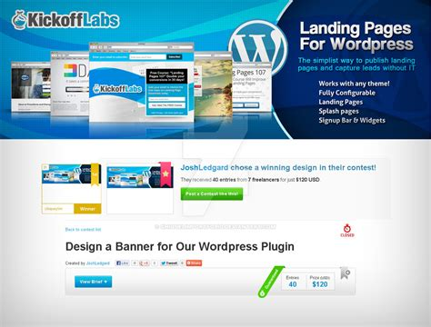 design contest plugin wordpress design a banner for our wordpress plugin by