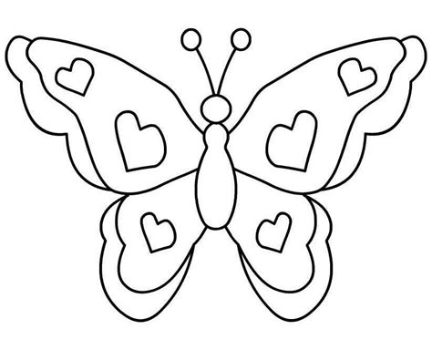 Butterflies Images Outline by Butterflies Outline Coloring Home