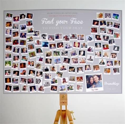 Photo Finder Photo Collage Find Your Wedding Table Plan By Rodo Creative