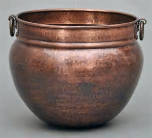 copper planter large 2 sizes traditional indoor pots