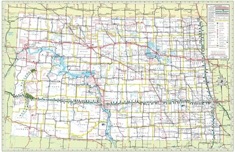 road map nd dakota state highway map maplets