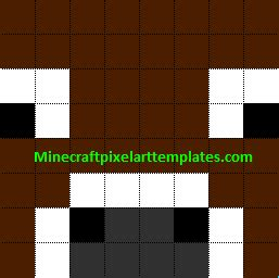 minecraft cow template minecraft pixel templates cow