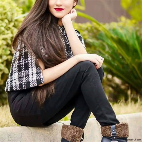 sweet girl in dp fb charming and sweet girl in black jeans adorable facebook