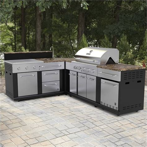 prefab outdoor kitchen cabinets outdoor kitchen kits lowes kitchen stunning outdoor