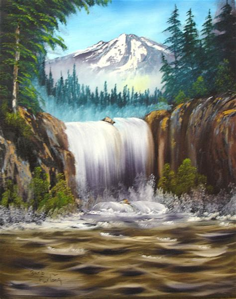 bob ross painting demo bob ross paintings waterfall