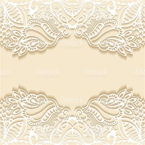 Wedding Invitation Card Background Design by Abstract Background Frame Border Lace Pattern Wedding