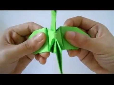 tutorial origami burung origami burung bangau mp4 youtube