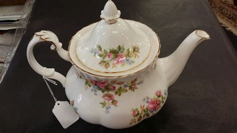 rose royal royal albert quot moss rose quot teapot house of treasures