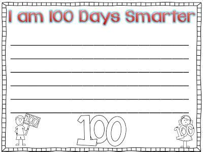 100th day writing paper in grade our 100th day freebie writing paper