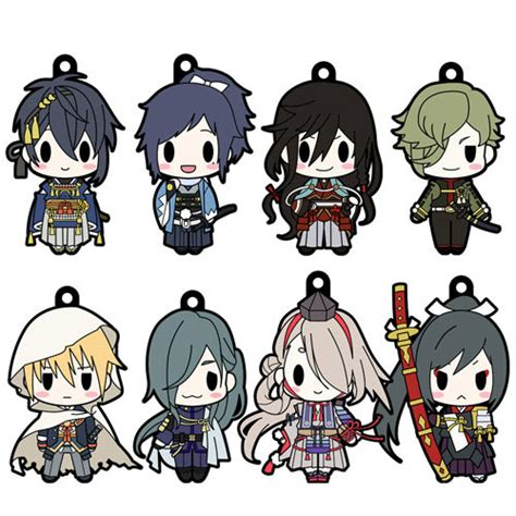 D4 Touken Ranbu Rubber Collection Honebami d4 series touken ranbu rubber collection