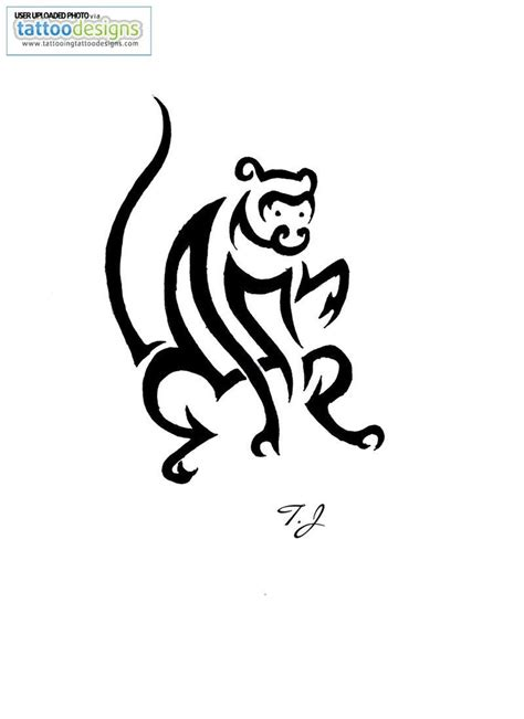 tribal monkey tattoo meaning monkey images designs
