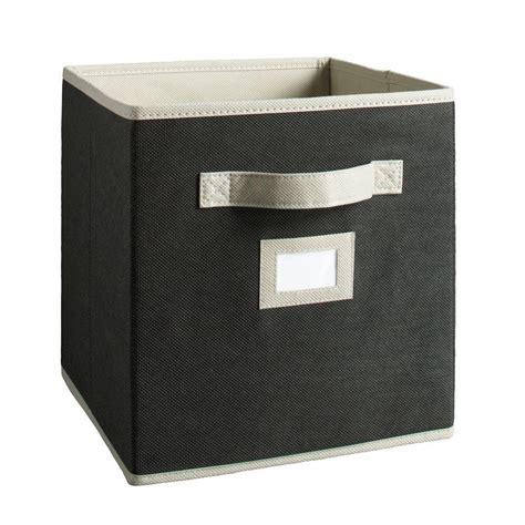 martha stewart living half width fabric drawers martha stewart living 10 1 2 in x 11 in black fabric