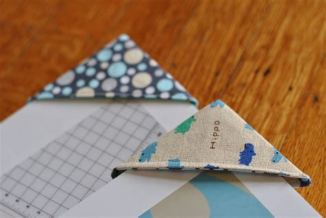 How To Make Paper Buds - fabric corner bookmarks craft buds
