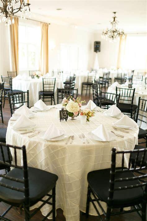 chiavari chairs wedding reception reception with ivory linens and black chiavari chairs
