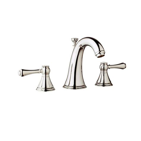grohe grandera 8 in widespread 2 handle high arc bathroom faucet in polished chrome 20419000 grohe geneva 8 in widespread 2 handle mid arc bathroom