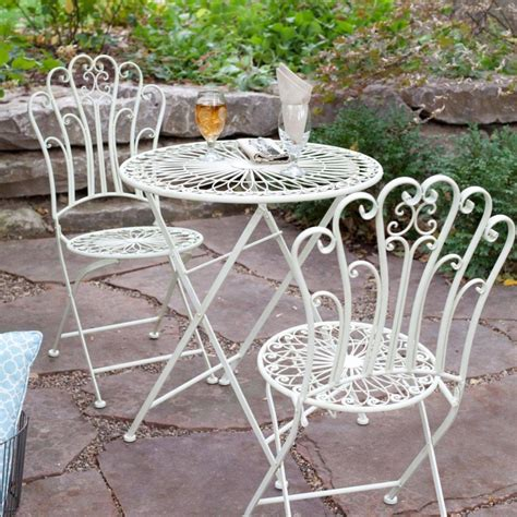 Inspiring Wrought Iron Patio Furniture Dining Room Inspiring Small White Outdoor Dining Room