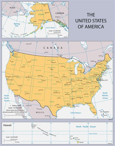 usa map political states large political map of the united states usa maps of