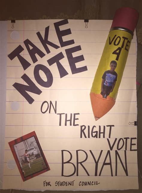 student council campaign poster videos articles pictures funny or
