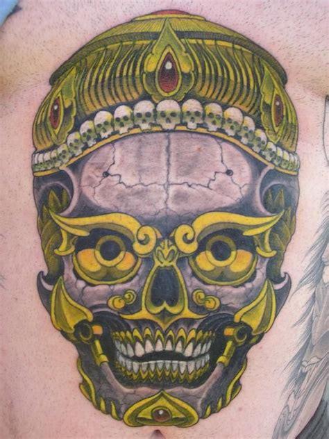 tibetan skull skulls amp dead womens tattoo pinterest