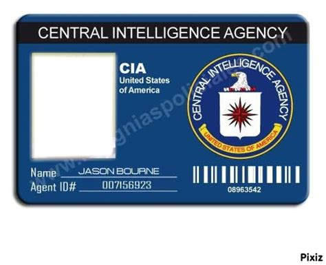 cia id card template maker montage photo badge cia pixiz