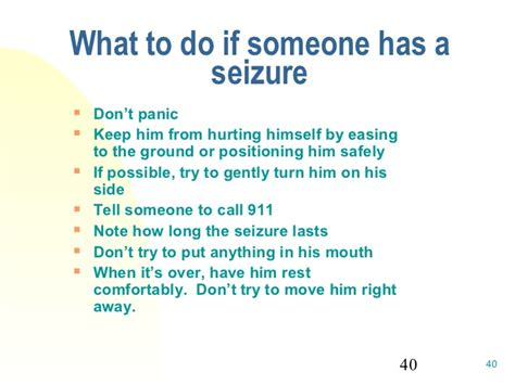 seizures what to do healthcare 101