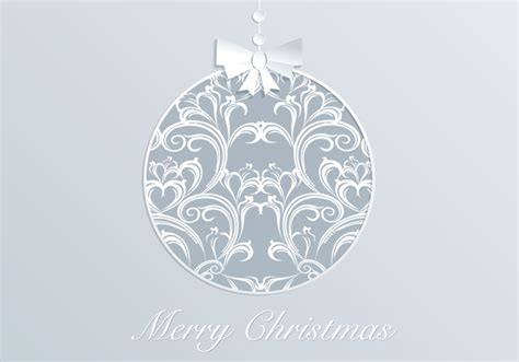 damask christmas ornament vector download free vector