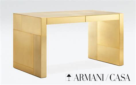 Armani Casa Desk limited edition armani casa s gold plated adelchi writing desk extravaganzi