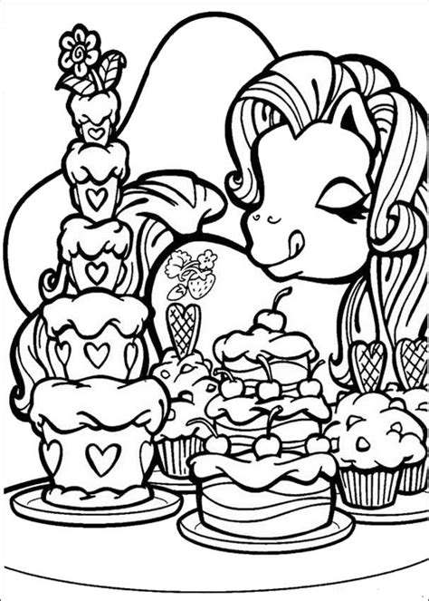 hello pony coloring pages pony loves cakes coloring pages hellokids com