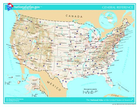 detailed america map maps of the usa the united states of america map