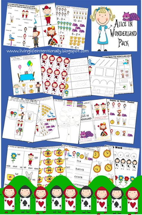 alice in wonderland printable activity sheets free disney inspired learning printable packs activities
