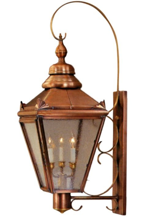 Antique Brass Sconce Hampton Wall Light With Bracket And Scroll Copper Lantern