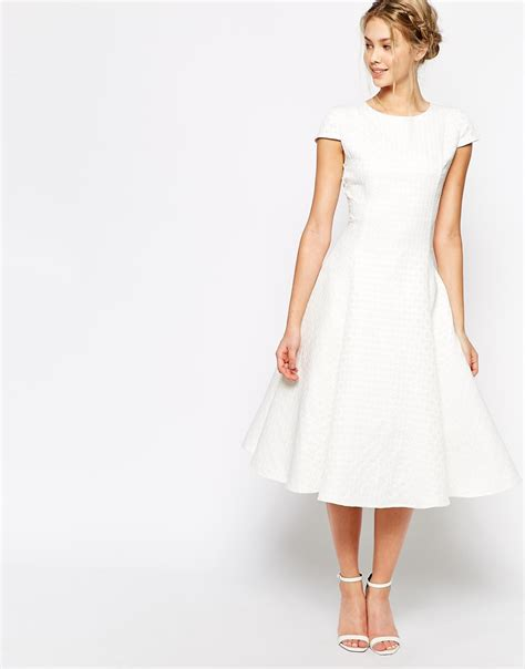Closet Full Clothing by True Decadence Textured Midi Prom Dress With Full Skirt In