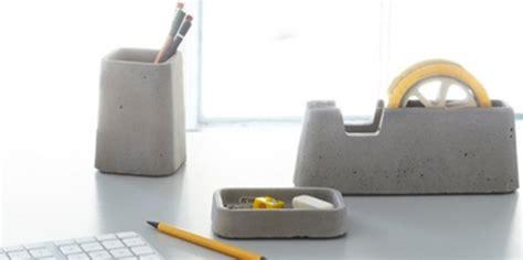 oggettistica ufficio accessori da ufficio di cemento designbuzz it